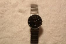 Mens SKAGEN Anchor Grey Dial Stainless Wave Link Ultra Slim Watch SKW6109
