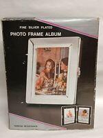 Vintage Fine Silver plate 5 x 6 Photo Frame Album By Godinger Silver N.Y. unused