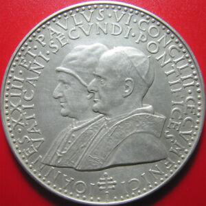1962-1965 VATICAN 2nd COUNCIL JOHN XXIII PAUL VI 40gr SILVER PAPAL MEDAL 50mm