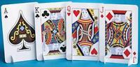 Card Night Centerpiece J, Q, K, A Standup Each