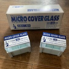 One (1) Package 200pcs. Micro Cover Glass 24x50mm Muto Pure Chemicals LTD