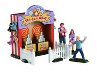 Lemax CIRCUS & CARNIVAL TIN CAN ALLEY TOSS Carnival Booth Village Accessory NIB