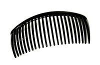 Steckkamm Einsteckkamm Haarkamm Haarklammer Haarspange schwarz 10,4 cm x 5,5 cm