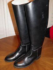 "EFFINGHAM by BOND Boots 21"" TALL Black Equestrian Riding Boots 1000L EUC 10C"