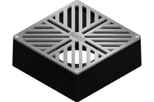 "Sinnov Stainless Steel 3 & 4"" in Drain Grate, Paver, Concrete, Stone, Travertine"
