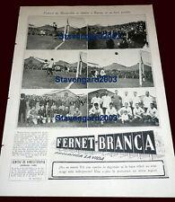 RACING CLUB vs PEÑAROL 1924 RARE ORIGINAL clipping EL GRAFICO Magazine ARGENTINA