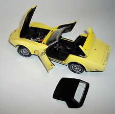 FRANKLIN MINT 1/24 1970 CHEVROLET CORVETTE CONVERTIBLE w/ YELLOW FADED PAINT