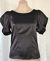 REVIEW SIZE 10 BLACK SATURN BLOUSE WORK TO DINNER