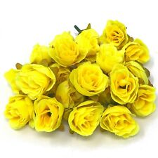 Yellow Rose Bud Decorative Synthetic Flowers (Faux Silk) - UK SELLER