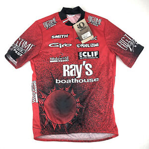 Pearl iZUMi Red Cycling Jersey Size Large Short Sleeve Ray's Boathouse NWT!