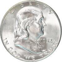 1952 S Franklin Half Dollar 90% Silver BU US Coin