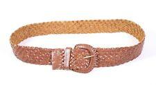 df35b9a8473a0 G5 Damen Gürtel Flechtgürtel Leder braun breit geflochten 80 cm Vintage Boho