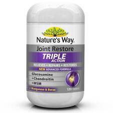 NATURE'S WAY JOINT RESTORE TRIPLE ACTION 120 TABLETS GLUCOSAMINE CHONDROITIN MSM