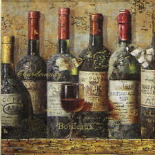 4x Paper Napkins for Decoupage Craft, Party - Best Wines