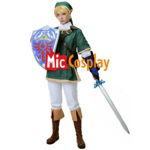 Men's Twilight Princess Link Green Cosplay Costume Outfit Halloween Cosplay