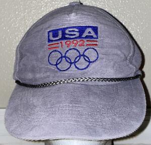 Cherokee Cap Co 1992 Barcelona Olympics USA Corduroy Dad Cap