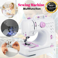 Electric Portable Mini Sewing Machine 12 Stitch Overlock 2 Speed Foot Pedal Led
