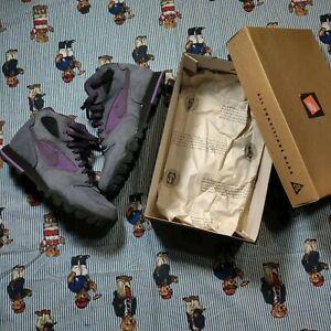 VTG 90s Nike Caldera Mid ACG Gray Purple Women US8.5 EUR 40 Hiking Boots 185030