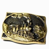 1977 Heritage Mint Registered Collection Solid Brass Steam Train Belt Buckle
