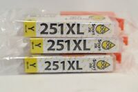 Smart Ink 251XL Yellow Cartridges High Yield HP Replacement