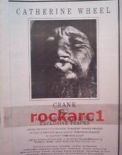 """CATHERINE WHEEL Crank 1993 UK Press ADVERT 10x7"""""""