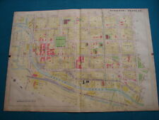 Antique Map Of Syracuse NY- 1908 - Geo Zett's Brewery / The General Chem - Pl 18