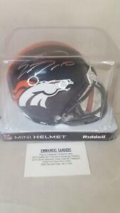 Emmanuel Sanders Autographed Denver Broncos Riddell Mini Helmet JSA