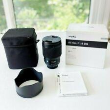 Slightly Used Sigma Art 85mm f/1.4  Nikon F Mount