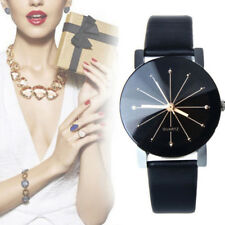 Women's Date Leather Stainless Steel Analog Military Quartz Wrist Watch #LI6