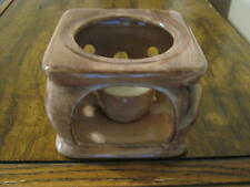 Vintage Collectible China Candle Holder - Stangl - Usa - Brown - Rare Color