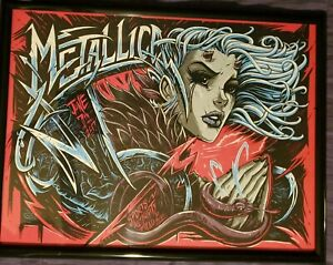 METALLICA 2017 DENVER LIMITED EDITION LITHOGRAPH w/ FRAME.