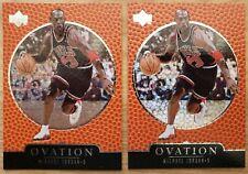 Michael Jordan 1997-98 Upper Deck Ovation (2) Card Lot