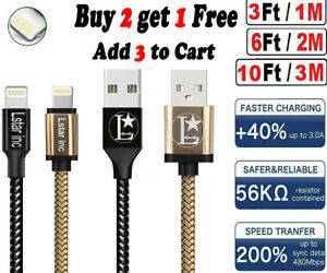 iPhone charger Fast USB Cable Cord For IPHONE 6 7 8 Plus iPhone X Xr 11 12 Max