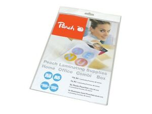 NEW Peach PP500-02 25 Pack A4 A5 Photo Business Card Laminating Laminate Pouches