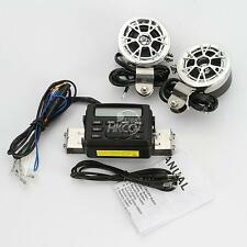 Motorcycle Bike Audio FM Radio MP3 iPod Stereo Speakers SD MMC For Harley New
