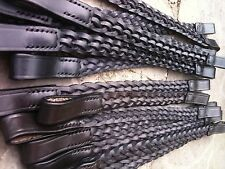 """HERITAGE 100% ENGLISH MADE DARK BROWN 5 PLAITED PONY SIZE BROWBAND 1"""" INCH WIDE"""