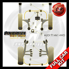 Audi TT Mk1 8N 4WD (99-06) Powerflex Black Complete Bush Kit Early Models