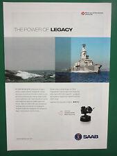 10/2008 PUB SAAB NAVAL COMMAND AND CONTROL SYSTEMS CEROS 200 RADAR OPTRONIC AD