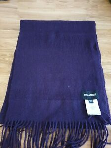 LYLE & SCOTT Purple 100% Lambswool Scarf