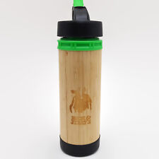 Ben & Jerry's Bamboo Bottle Co. Glass & Wood Travel Bottle With Straw