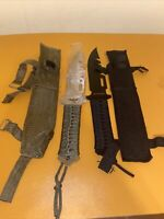 2 Parachord 8 Inch Throwing / Hunting Knives Survival Camping Bugout With Sheath