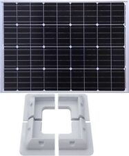 100W Mono PV Solar Panel c/w 3m cable for charging 12v battery + corner brackets