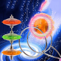 LED Spinning Top Magnetic Gyro Wheel Track Toy Bauble Colorful Shine Kids GiftNT