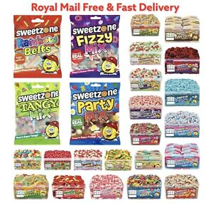 SWEETZONE Gummy Sweets Tubs Retro Candy Floss Wedding Party Favour Halal HMC