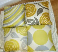 THOMAS PAUL 100% SILK DECOR PILLOWS HAND MADE SET OF 4 MADE IN USA