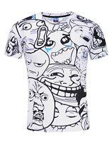 Cartoon Faces T-Shirt (weird funny faces t shirt)