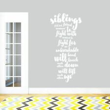 Siblings Wall Decal - Kids, Nursery, Playroom, Wall Art, Vinyl Sticker, Decal