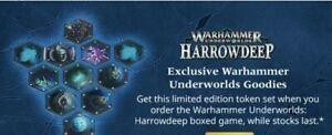 Harrowdeep, Underworlds. Limited release exclusive Acrylic Tokens