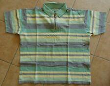 Polo-Hemd DI QUATTRO M-L Kurzarm Polo-Shirt pique gelb grün grau Reißverschluss