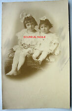 PHOTO F. BUNUEL NEW YORK USA 1914 ENFANTS JEANNINE ET MARIE THÉRÈSE GRENIER k360